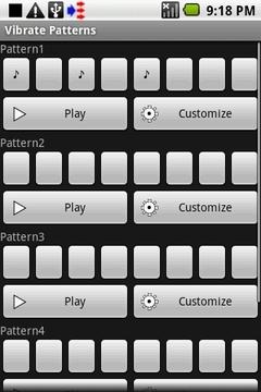 Vibrate Patterns