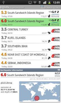 EQInfo - 全球地震信息