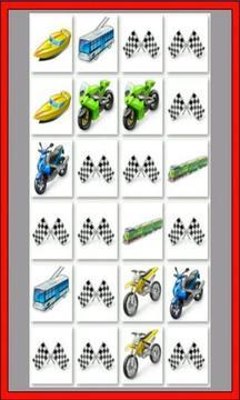 儿童记忆卡:汽车游戏
