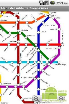 布宜诺斯艾利斯地铁地图
