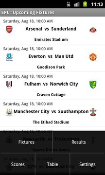 Simple EPL Scores