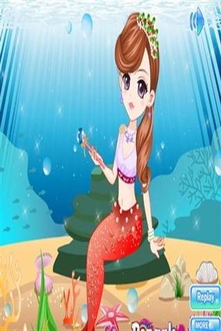 可爱的人鱼公主化妆