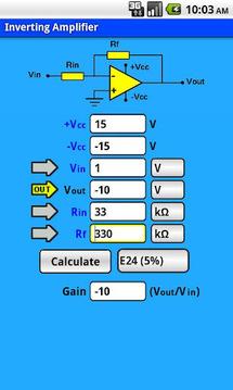 Elektor Opamp Calculator