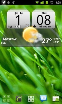 MIUI数字天气时钟