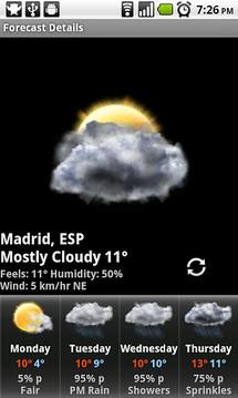 Smoked Glass Weather Clock