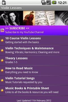Violin Lesson Tutor