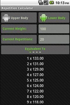 Repetition Calculator Lite