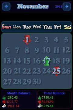 Calendar Money Book