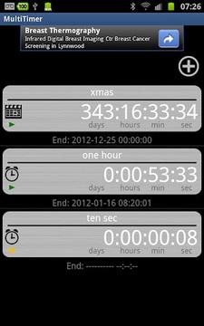 MultiTimer (plus widget)