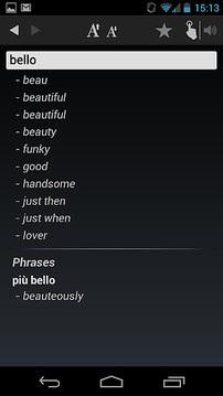 Dictionary Italian English