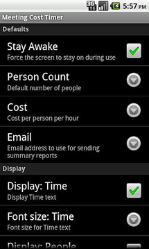 Meeting Cost Timer