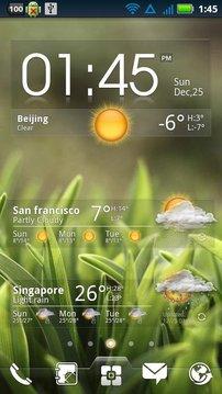 EZ 天气和时钟 widget