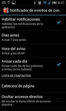 Contact Events Notifier