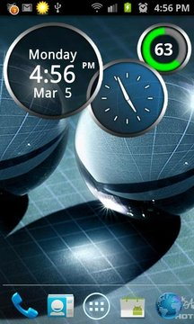 Rings Digital Weather Clock
