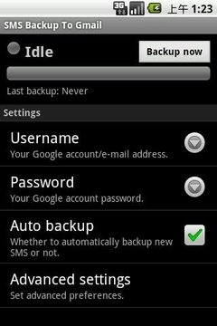 SMS Backup or Save to Gmail
