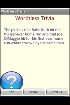 Worthless Trivia