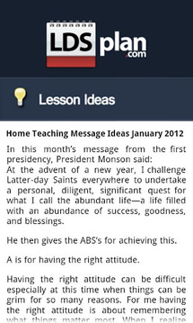 LDS Plan