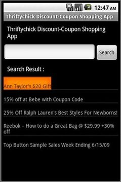 Thriftychick Coupon finder
