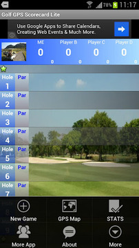 Golf GPS Scorecard Lite