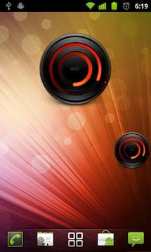 螺旋红色模拟时钟