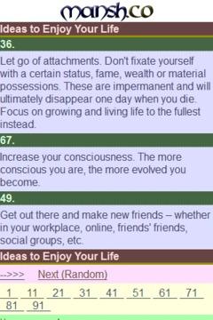 101 Ideas to Enjoy Your Life