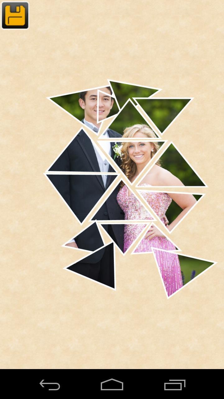如三角形,长方形和五边形创建一个从单一的照片拼贴.