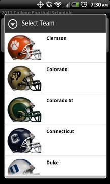 College Football Helmet Sched