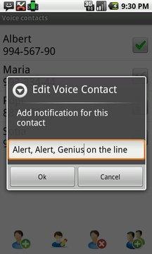 Voice Full Screen Caller ID Li