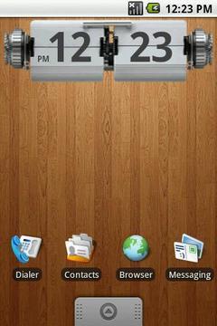 Retro Desk Clock 4x1