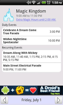 Disney World Park Hours (Free)