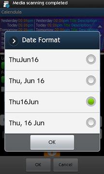 Calendula Calendar Widget