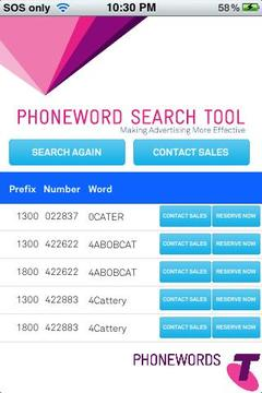 Telstra PhoneWords