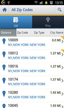 US Zip codes Lite