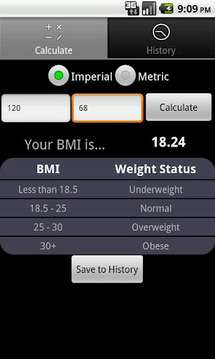 BMI FYI Calculator