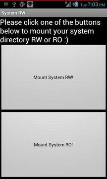 System RW/RO