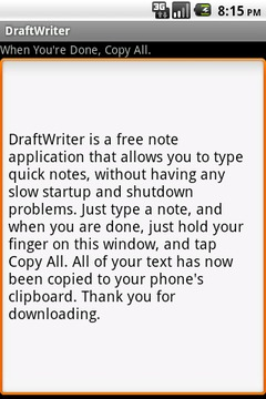 DraftWriter - Quick Notes