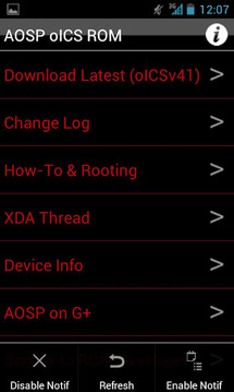 AOSP oICS NS4G ROM Toolbox