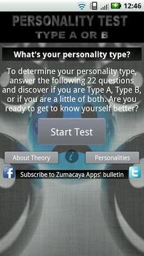 Test de Personalidad: A o B