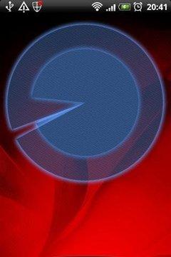 模拟蓝色钟