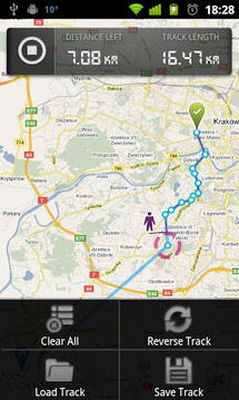dTracker GPS route tracking