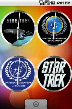 StarTrek Clock Set 9 Clocks