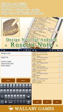 Rosetta Notepad
