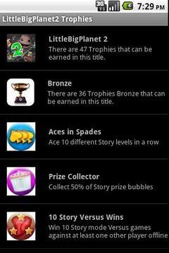 LittleBigPlanet2 Trophies