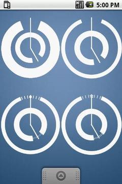 Modern Clock Set 4 Clocks 2x2