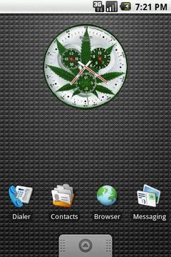 绿色植物时钟