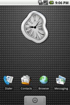 Distortion Clock Widget 2x2