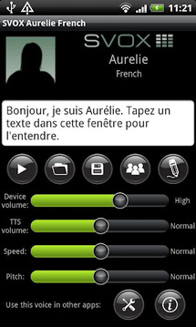 SVOX French Aurelie Trial