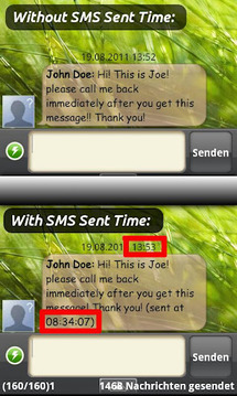 SMS Sent Time