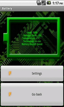 .Battery widget