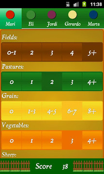 Agricola Score Calculator